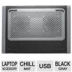 "Targus AWE79US Dual Fan Chill Mat - Supports Laptops Up to 15.6"", USB, Woven Gabardine Padding Material, Gray & Black"