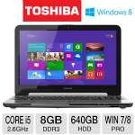 Toshiba Tecra R950 Notebook PC - 3rd generation Intel Core i5-3230M 2.6GHz, 8GB DDR3, 640GB HDD, DVDRW, 1GB AMD Radeon HD 7570M, 15.6&quot; Display, Windows 8 Pro / Windows 7 Pro 64-bit