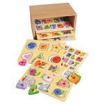 PUZZLE STORAGE CASE WITH 6 WOODEN