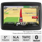 TomTom Go Live 1535TM Automotive GPS - 5&quot; Touchscreen Display, North America Maps, Lifetime Traffic, Lifetime Maps, Bluetooth, Voice Command, ECO Routes, Refurbished, 6-month Warranty(RB-1ER5.019.01R)