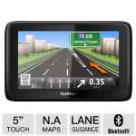 TomTom GO 2505M Automotive GPS - 5&quot; Touchscreen, 16:9 Widescreen, North America Maps, Lifetime Map Updates, Lane Guidance, Custom POI's, Voice Input, Bluetooth (1CQ0.019.03)