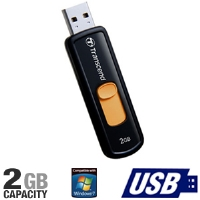 Transcend TS2GJF500 500 JetFlash USB Flash Drive - 2GB