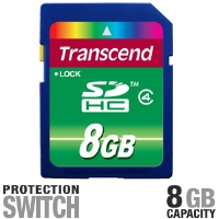 Transcend TS8GSDHC4 SDHC Flash Card - 8GB, Class 4