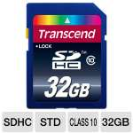 Transcend TS32GSDHC10 SDHC Card - 32GB, Class 10