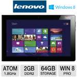"Lenovo 3679-27U ThinkPad Tablet 2 - Windows 8 Professional 32-bit, Intel Atom Z2760 1.8GHz, 2GB DDR2, 64GB Flash, 10.1"" Multi-Touch, Dual Cameras"