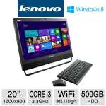 "3rd Gen. Intel Core i3-3220 3.3GHz, 4GB DDR3, 500GB HDD, DVDRW, 20"" Display, Windows 8 Pro 64-bit / Windows 7 Pro 64-bit, Keyboard & Mouse"