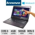 Lenovo ThinkPad Twist S230u 3347-2HU Ultrabook - 3rd generation Intel Core i5-3317U 1.7GHz, 4GB DDR3, 500GB HDD + 24GB mSATA SSD, 12.5&quot; Multi-Touch Display, Windows 8 Professional 64-bit