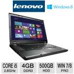 "Lenovo ThinkPad T530 2392-B3U Notebook PC - 3rd Generation Intel Core i5-3320M 2.6GHz, 4GB DDR3, 500GB HDD, DVDRW, 15.6"" Display, Windows 7/8 Pro 64-bit"
