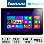 "Intel Atom Z2760 1.8GHz, 2GB DDR2, 64GB eMMC, 10.1"" Multi-Touch, Windows 8 32-bit, WiFi, Dual Cameras"