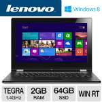 "Lenovo YOGA 59342980 Tablet PC - NVIDIA Tegra T30 1.4GHz, 2GB RAM, 64GB SSD, 11.6"" Display, Windows RT"