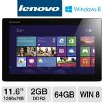 "Lenovo IdeaTab Lynx K3011 59343251 Tablet - Intel Atom Z2760 1.8GHz, 2GB DDR2, 64GB eMMC, 11.6"" Multi-Touch, Windows 8, WiFi, Webcam"