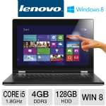 "Lenovo IdeaPad Yoga 13 Ultrabook - Intel 3rd Generation Core i5-3337U 1.8GHz, 4GB DDR3, 128GB SSD, 13.3"" Touchscreen, Windows 8 64-bit (59359567)"