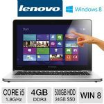 "Lenovo IdeaPad U310 Touch Ultrabook - 3rd generation Intel Core i5-3337U 1.8GHz, 4GB DDR3, 500GB HDD + 24GB SSD, 13.3"" 10-point Multi-Touch Display, Windows 8 (59365302)"