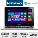 Lenovo IdeaPad U310 59351647 Ultrabook - 3rd generation Intel Core i5-3317U 1.7GHz, 4GB DDR3, 500GB HDD + 24GB SSD, 13.3&quot; Display, Windows 8 64-bit