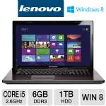 "Lenovo G780 Notebook PC - Intel 3rd generation Core i5-3230M 2.6GHz, 6GB DDR3, 1TB HDD, DVDRW, 17.3"" Display, Windows 8 64-bit (59359249)"