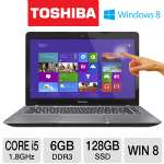 "3rd generation Intel Core i5-3337U 1.8GHz, 6GB DDR3, 128GB SSD, 14"" Touchscreen Display, Windows 8 (PSU4TU-007003)"