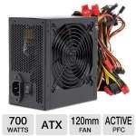 Thermaltake TR-700 700W Power Supply ATX 12V V2.3 & EPS 12V SLI Ready CrossFire Ready Active PFC Power Supply - Single +12V Output, Universal AC Input 100V~240V, Active PFC, 120mm Fan