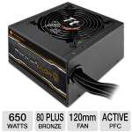 Thermaltake SMART 650W SP-650P Power Supply - 650Watt, 120mm Fan, 80 PLUS Bronze, Active PFC (SP-650P)