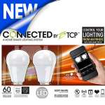 TCP Connected Smart LED Light Bulb Starter Kit with 2 A19 LED Light Bulbs - Dimmable, 800 Lumens, No Mercury - LCG2LD11