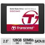 "Transcend SSD340 Internal 128 GB Solid State Drive - 2.5"", SATA 6Gb/s, 520MB/s Read - TS128GSSD340"
