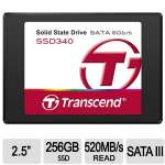 "Transcend SSD340 Internal 256GB Solid State Drive - 2.5"", SATA 6Gb/s, 520MB/s Read - TS256GSSD340"