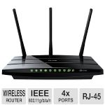 TP-LINK Archer C7 AC1750 Dual Band Wireless AC Gigabit Router, 2.4GHz 450Mbps+5Ghz 1350Mbps, 2 USB Ports, IPv6, Guest Network