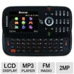 GSM, QWERTY Keyboard, Bluetooth, Web Browser, 2MP Camera, MP3 Player, FM Radio, LCD Display, Voicemail, Voice Recorder, Alarm Clock, (Reconditioned