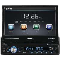 "7"" SINGLE-DIN IN-DASH DVD RECEIVER WITH"