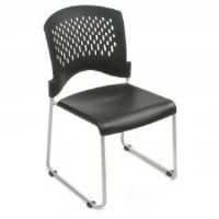 Ventilated Plastic Stackable Chair - Black