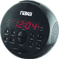 Naxa PLL Digital Alarm Clock with AM/FM Radio & Snooze