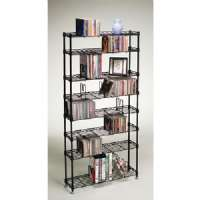 MULTIMEDIA STORAGE RACKS (8 SHELVES)