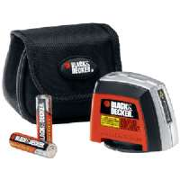 BLACK and DECKER BDL220S LASER LEVEL WITH WALL MOUNTING ACCESSORIES