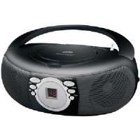 COBY CXCD275BLK PORTABLE CD STEREO WITH AM/FM STEREO TUNER