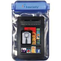 "TRAVELOCITY TVWC-TAB WATERPROOF EREADER/7"" TABLET CASE WITH AUX CONNECTOR"