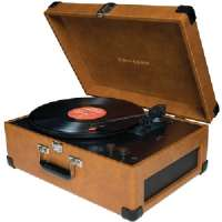 CROSLEY RADIO CR6249-TA DELUXE KEEPSAKE USB TURNTABLE (TAN)