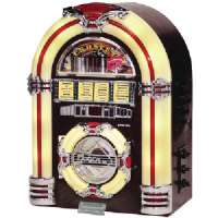CROSLEY RADIO CR11CD TABLE TOP JUKEBOX WITH CD PLAYER