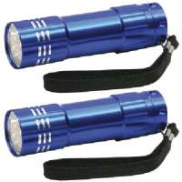 DORCY 41-3245 9 LED ALUMINUM FLASHLIGHT COMBO, 2 PK