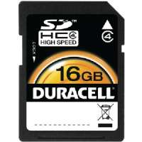 Duracell 16GB SDHC Flash Memory Card - Class 4 (DU-SD1016G-C)