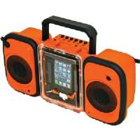 Grace Digital Audio ECOTERRA Boom Box - Waterproof, Shock Resistant, Rugged Design, LED Indicator, Floats, Submersible, Dirt Resistant - GDI-AQ2S160