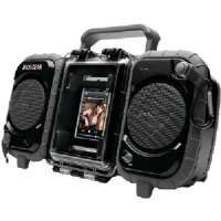 "Ecoxgear Eco Speaker System - Boombox, Water/Weather Proof, AUX, Portable, IPX7 Standard, 3"" Full Range Driver, Black - GDI-AQ2S161"