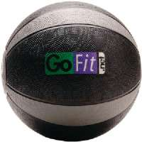 GOFIT GF-MB12 MEDICINE BALL (12 LBS BLACK and GRAY)