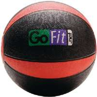 GOFIT GF-MB8 MEDICINE BALL (8LBS BLACK and RED)