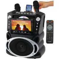 "EMERSON GF829 DVD/CDG/MP3G KARAOKE SYSTEM WITH 7"" TFT COLOR SCREEN"