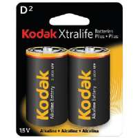 KODAK XLD2 XTRALIFE(TM) ALKALINE BATTERIES (D TYPE 2 PK)