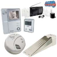 SMOKE DETECTOR, DOORSTOP ALARM, VIDEO DOOR PHONE, WIRELESS HOME ALARM SYSTEM