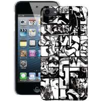 DYSE ONE DY-T5CCG IPOD TOUCH(R) 5G PC CASE (BLACK and WHITE COMIC GRAFFITI)