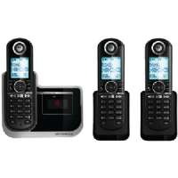 MOTOROLA L803 DECT 6.0 DELUXE CORDLESS PHONE WITH CALLER ID, DIGITAL ANSWERING MACHINE and SPEAKERPHONE (3-HANDSET SYSTEM)
