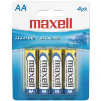MAXELL 723465 - LR64BP ALKALINE BATTERIES (AA 4 PK CARDED)