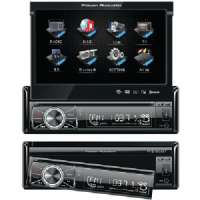 "7"" SINGLE-DIN MOTORIZED TOUCHSCREEN LCD DVD RECEIV"