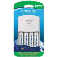 SANYO SEC-MQN064N 4-POSITION CHARGER WITH 4 AA ENELOOP BATTERIES